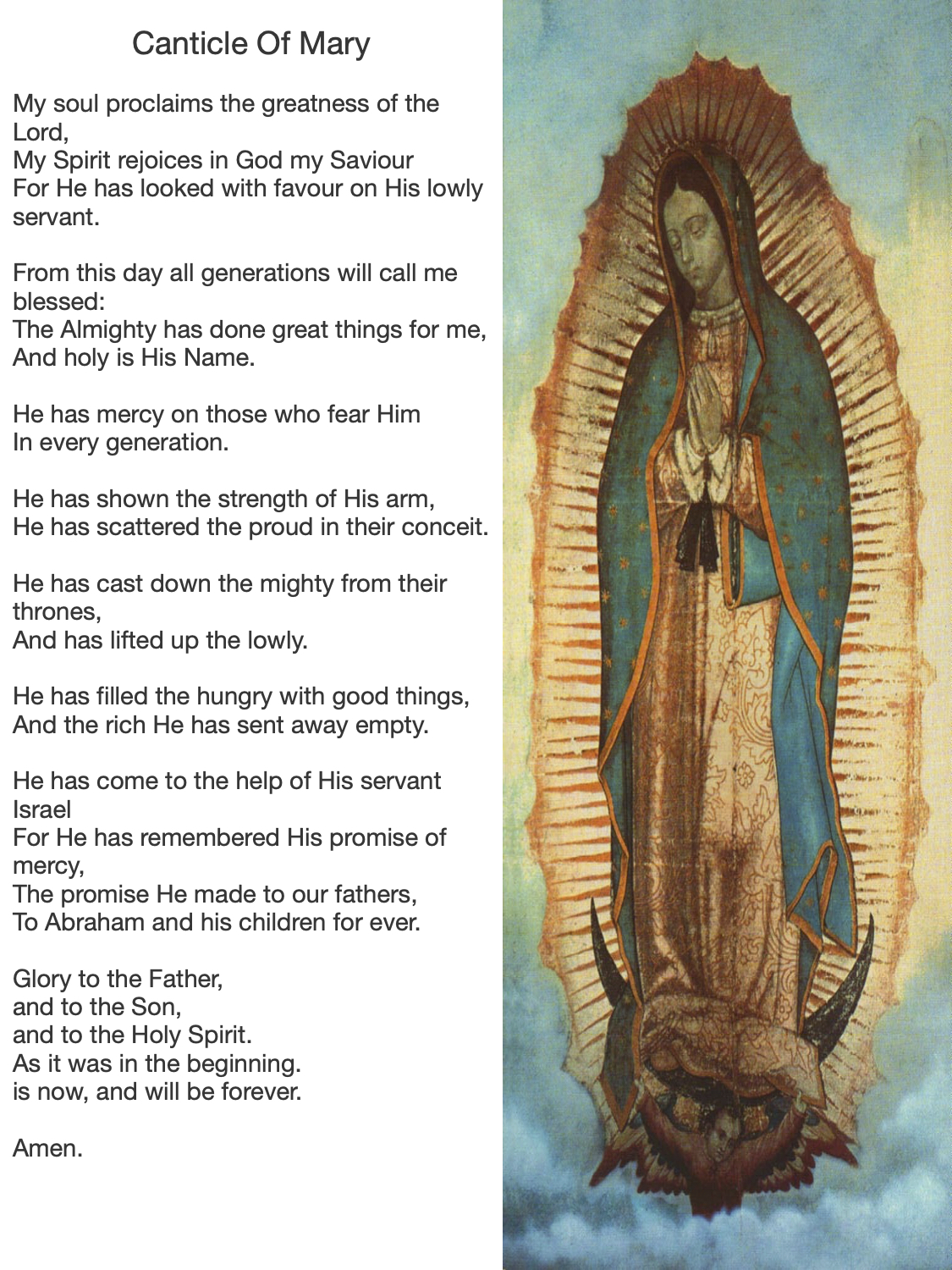 Canticle of Mother Mary