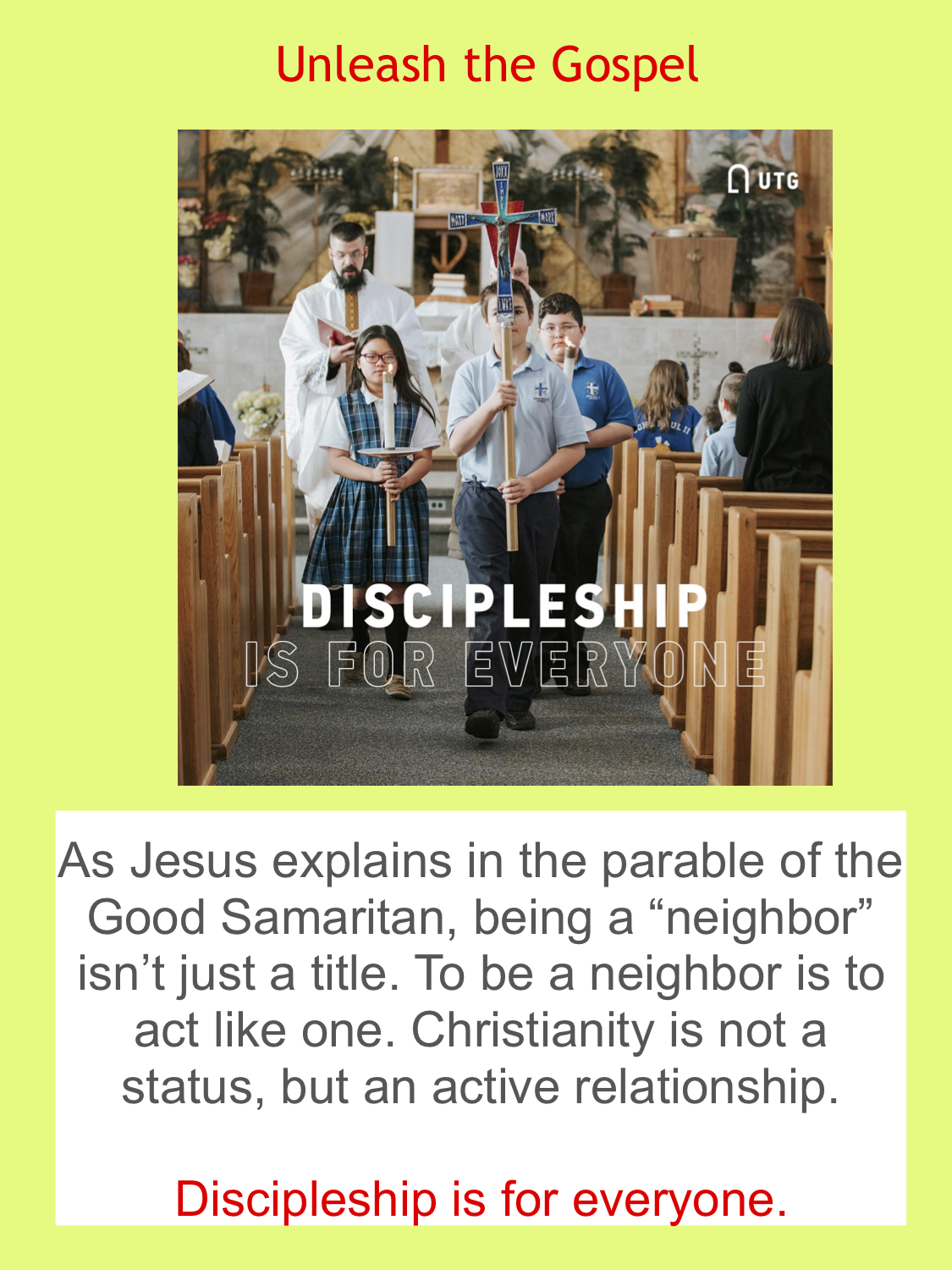 Unleash the Gospel - Discipleship for Everyone